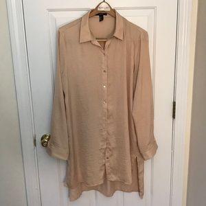 Long silk forever 21 blouse